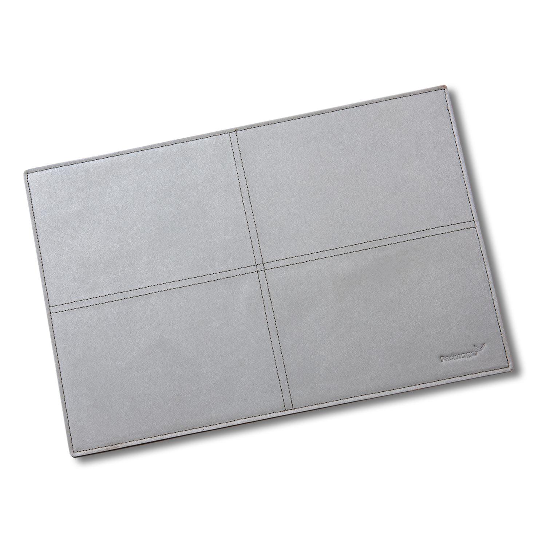 Leder Tischset, grau